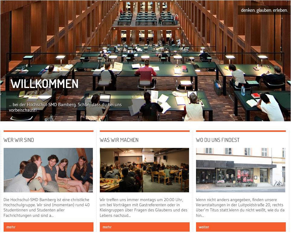 Homepage SMD Bamberg 2017