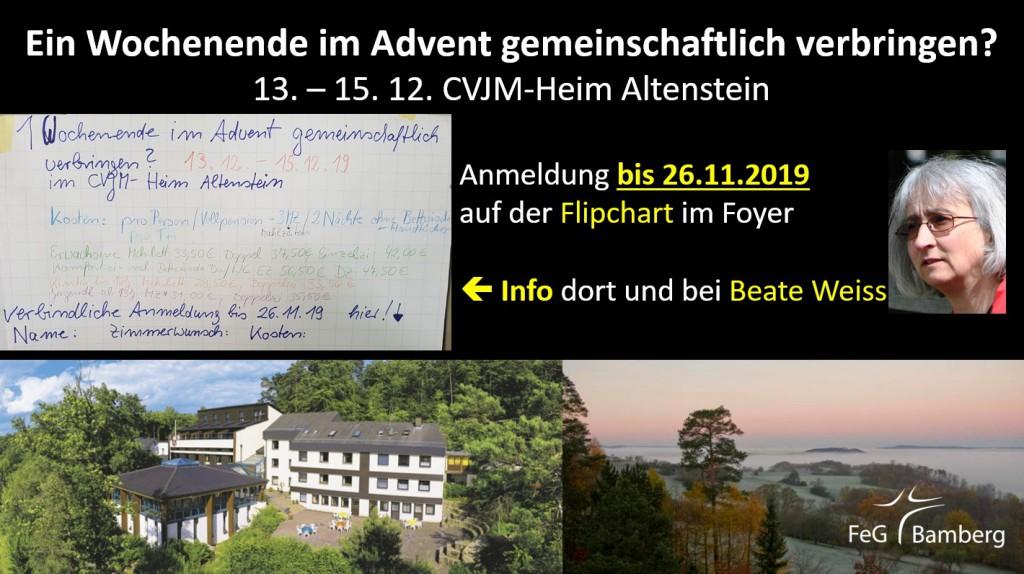 2019-12-13 Wochenende im Advent