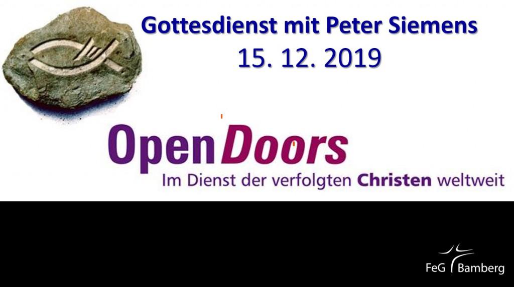 2019-12-15 GoDi mit Peter Siemens, Open Doors